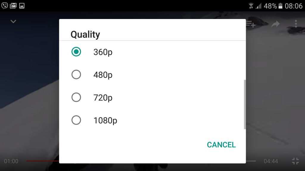 youtube adatforgalom csökkentés 3