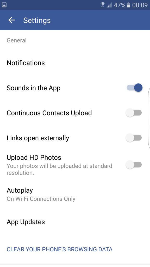 Facebook adatforgalom csökkentés videó kikapcsolása 2