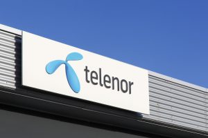 52390139 - aarhus, denmark - january 17, 2016: telenor is a norwegian multinational telecommunications company. it is one of the world's largest mobile telecommunications companies with operations in scandinavia, eastern europe and asia